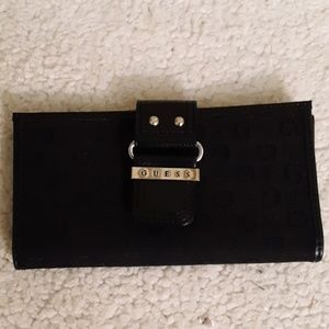 Guess Black Signature Double Fold Wallet